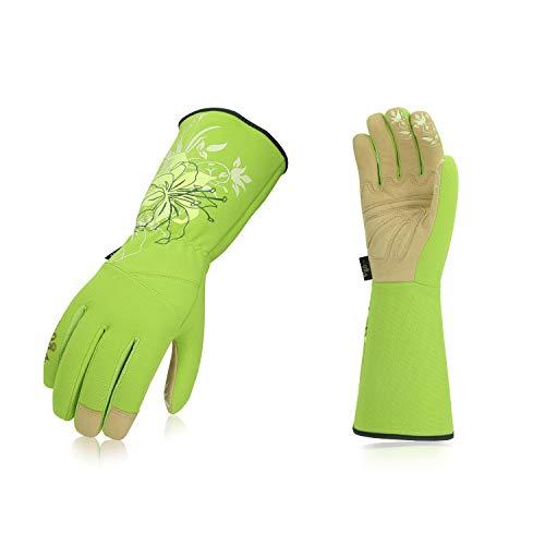 Vgo, 3 paia, guanti da giardino e guanti da lavoro donna, guanti da giardinaggio extra lunghi, palmo...