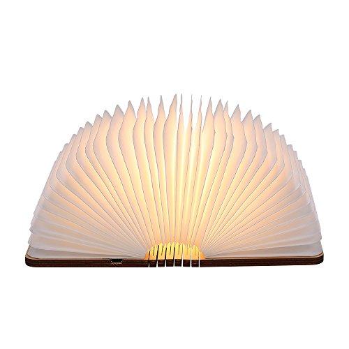 lampada Libro USB Ricaricabile, Tomshine Lampada Led a Forma di Libro,Mini Size,1000mAh,USB ricaricabile,500 Lumens Maggiore Luminosità.