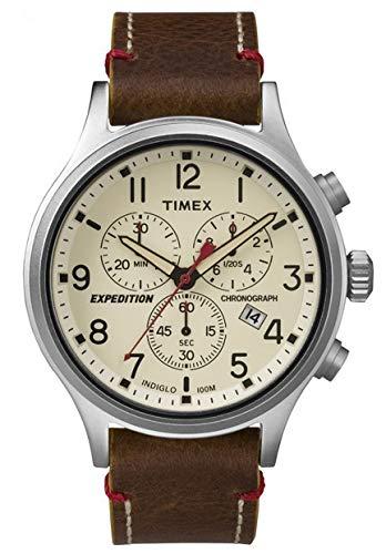 Timex Orologio Cronografo Quarzo Uomo con Cinturino in Pelle TW4B04300