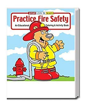 Practice Fire Safety Kid's Coloring & Activity Book in Bulk (25-Pack) 4