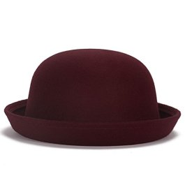Magik, cappello Fedora in lana con bordo rialzato, bombetta da uomo o cloche da donna