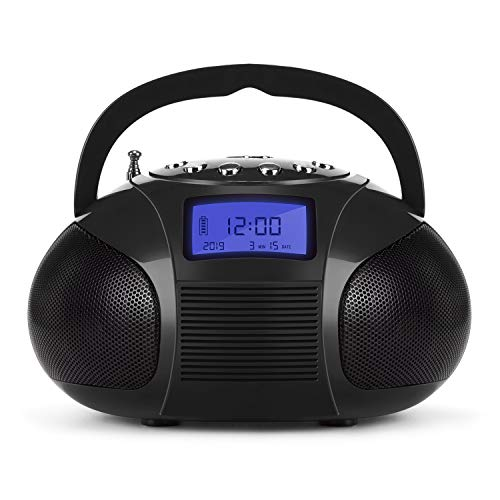 August SE20 Radio portatile con altoparlante Bluetooth, Nero