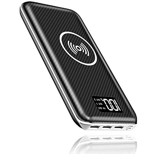 KEDRON Express E1 Power Bank 24000mAh Caricabatterie Portatile Caricatore Wireless con Display LCD...