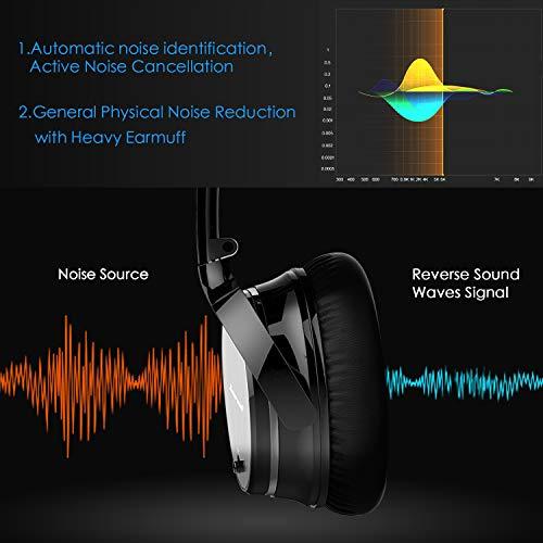 Casque Bluetooth Sans Fil Antibruit - Hiearcool Headphones Wireless Reduction de Bruit Universel Portable,Stéréo Qualité HIFI, pour tous les... 5