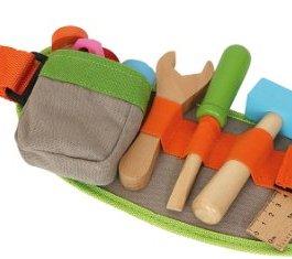 4745 Cintura regolabile con attrezzi small foot, incl. accessori in legno colorato, a partire da 3 a