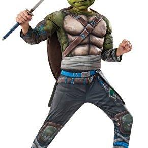 Rubies Disfraz de Leonardo Las Tortugas Ninja 2 Deluxe para niño
