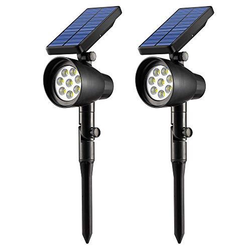 Ubitree Luci Solari Giardino esterno 8 LEDs Wireless Luce Solare Impermeabile Lampade Angolo...