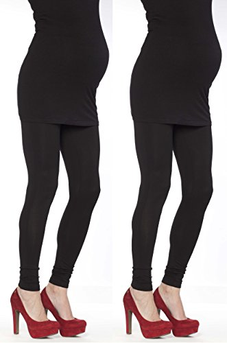 2 Set Damen Umstandsmode Leggings Umstandsleggings Umstands- Leggings Strumpfhosen Leggins