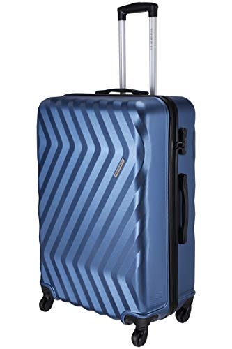 Nasher Miles Lombard Hard-Side Check-in Luggage|Blue 24 Inch /65CM Trolley Bag