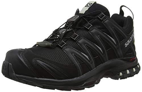 Salomon XA Pro 3D GTX, Calzado de Trail Running, Impermeable para Mujer, Negro Black/Mineral Grey, 39 1/3 EU