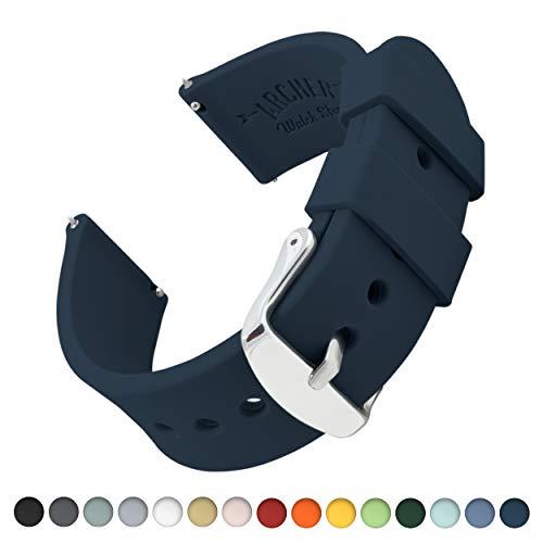 Archer Watch Straps | Ricambio di Cinturino di Silicone per Uomo e Donna, Caucciù Sgancio Rapido per Orologi e Smartwatch | Blu Notte, 20mm