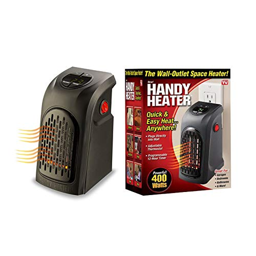 Livington Handy Heater 400 Watt Effektive Keramik Mini Heizung für die Steckdose das TV Original