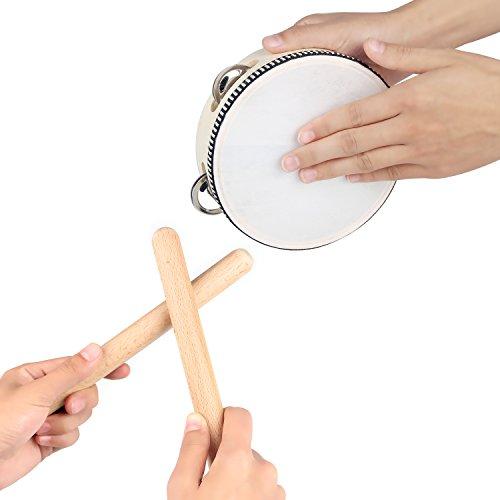 Set di Strumenti Musicali da 16 PZ |Percussioni, Shaker, Tamburello, Braccialetti a Sonagli e Maraca