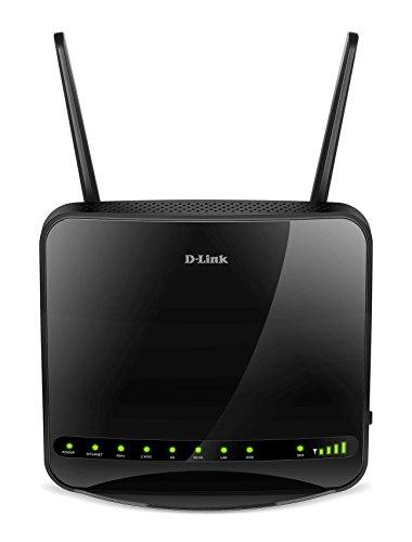 D-Link DWR-953 - Router WiFi AC1200 (4G/LTE libre, 3G, 1200 Mbps, WPS, 4 puertos Gigabit 10/100/1000 Mbps, 1 puerto de Internet WAN Gigabit, ranura para SIM de datos, WPA2, antenas extraíbles), negro