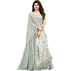 Royal Export Women's Georgette Long Party Wear Gown (Free Size)