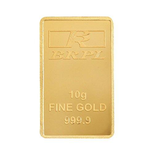 Bangalore Refinery 10 gm, 24k (999.9) Yellow Gold Bar