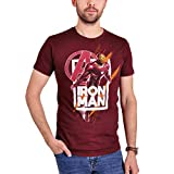 T-Shirt Uomo Avengers Iron Man Fly Endgame Marvel Cotton Red - M
