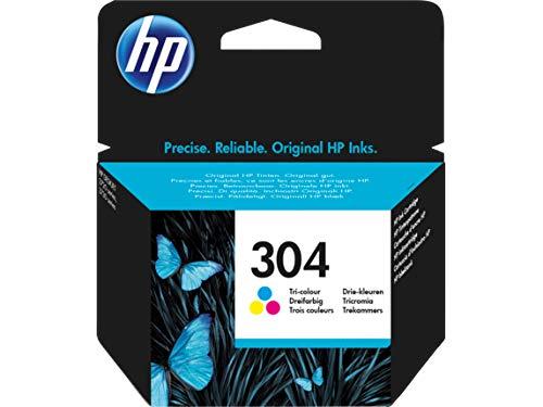 HP 304 Tricromia (N9K05AE) Cartuccia Originale per Stampanti HP a Getto di Inchiostro, Compatibile...
