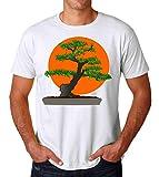 PasTomka Karate Kid Bonsai Japanese Men's T-Shirt Hombre Camiseta X-Large