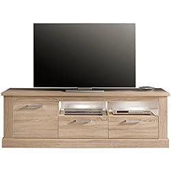 trendteam SYD32045 TV Möbel Lowboard Eiche Sägerau hell Nachbildung, BxHxT 186x61x52 cm