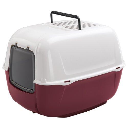 Box Toilette per Gatti Prima Chiusa, Toilette per Gatti, Plastica Resistente, Fondo Contenitivo,...