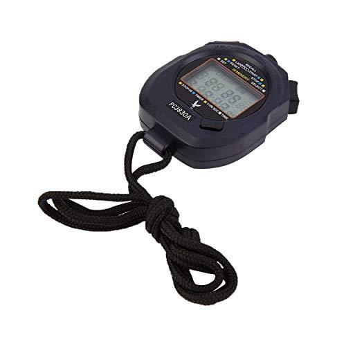 Lorenlli Fit Leap PC3830A Professional Cronometro LCD Digitale a Grande Schermo con Timer Cronografo con 3 Righe 30 Memorie Cronometro Marca