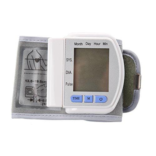 misuratore di pressione da polso - SODIAL(R) Digital LCD Monitor pressione sanguigna del polso...