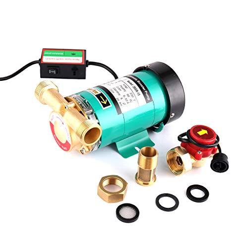 SHYLIYU surpresseur automatique de pression Pompes à eau 1' Sortie chaud Pompe à eau avec l'eau en laiton débit pour maison/douche lave-linge 120W 25 l/min