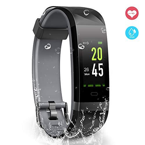 YoYoFit Orologio Fitness Activity Tracker, IP68 Impermeabile GPS Contapassi da Polso Pedometro...