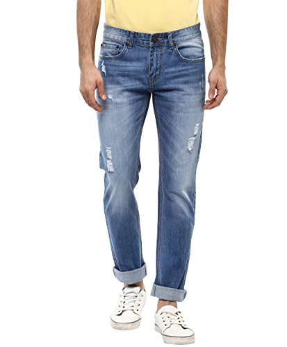 American Crew Men's Straight Fit Light Blue Jeans - 30 (ACJN501-30)
