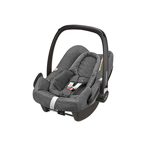 Maxi Cosi Rock Babyschale, sicherer i-Size Kindersitz, Gruppe 0+ (0-13 kg), nutzbar ab der Geburt bis 12 Monate, sparkling grey