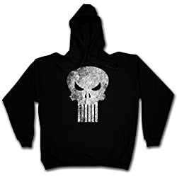 PUNISHER SKULL HOODIE PULLOVER SWEATSHIRT JERSEY SWEATER PULOVER Suéter - Insignia Logo Symbol Hero Comic TV Punitore Movie Castigador Frank Castle PC Game Tamaños S - 3XL