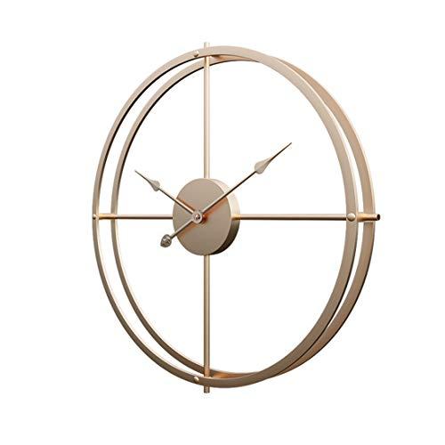 Jo332Bertram Orologio da Parete in Ferro Orologio da Muro Silenzioso Retro Orologio da Parete Decorativo - d'oro - 40cm