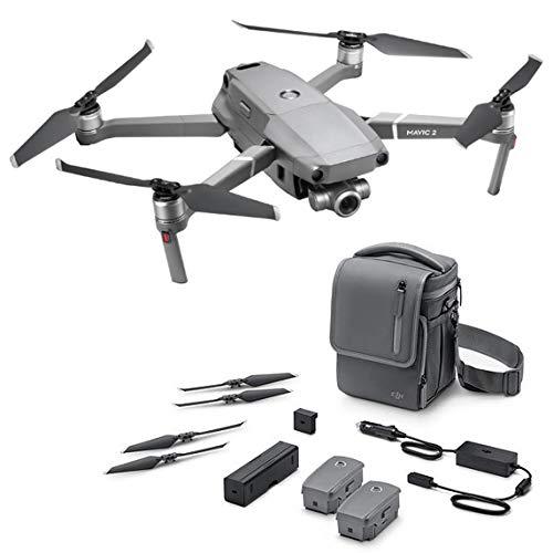 DJI Mavic 2 Zoom + Fly More - Kit con Drone quadrocopter (Zoom ottico di 24-48 mm, videocamera, Sensore CMOS 12MP 1/2.3') Colore Gris