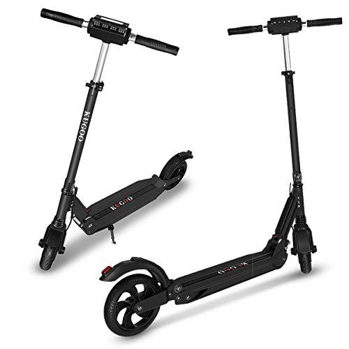 Elektro Scooter City Elektroscooter mit 30 Km/h Geschwindigkeit und 30 Km Reichweite, Faltbarer E-Scooter mit LCD-Anzeige, Li-Ion Akku, City E Roller Erwachsene und Kinder (1 Pack-Schwarz)
