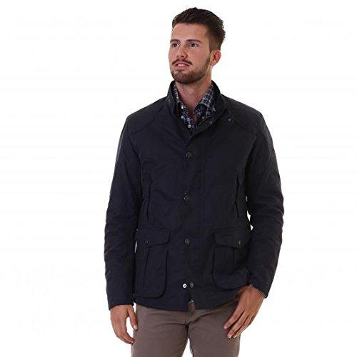 Barbour leaaward Wax Jacket Herren, blau