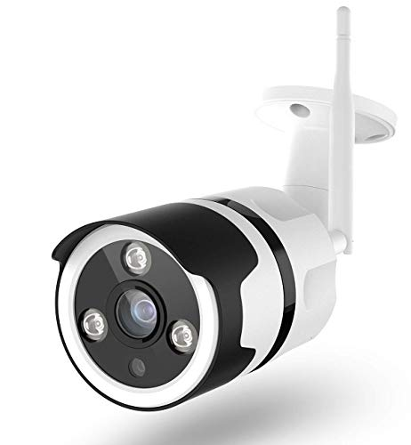 Videocamera Sorveglianza Esterno Wifi, Netvue FHD 1080P Telecamera di Sicurezza con Visione Notturna, Rilevamento de Movimento, Audio Bidirezionale, Telecamera IP Compatibile Con Alexa