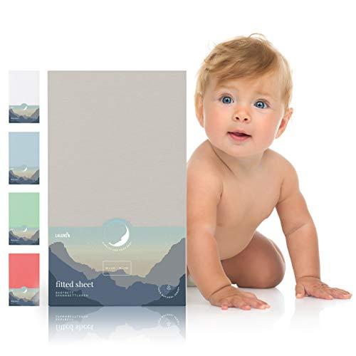 Spannbettlaken für Babybett Kinderbett - 60x120 bis 70x140 cm, atmungsaktiv, 100% Baumwolle