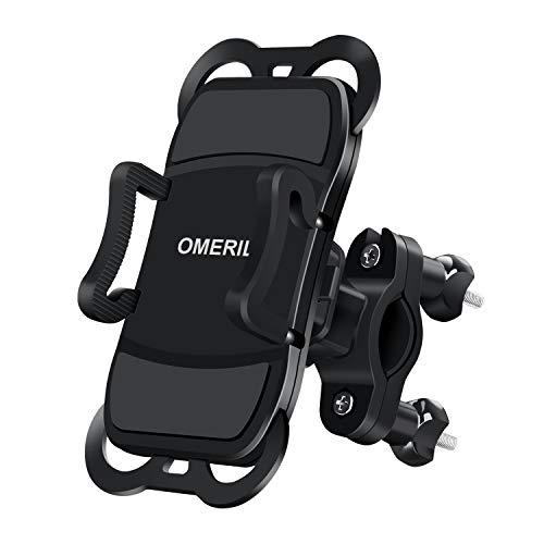 OMERIL Supporto Smartphone Bici, Supporto per Cellulare 360° Rotabile, Porta Cellulare Moto MTB...
