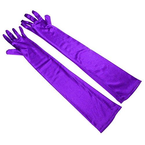 RUNHENG - Guanti - Donna Purple 55 cm