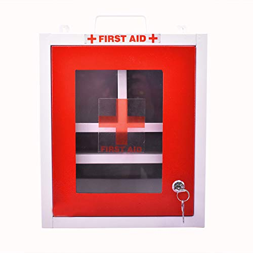 Primax Emergency First Aid Kit Box/Emergency Medical Box/First Aid Box for Home - School - Office/Wall Mountable, Multi Compartment (Metal)