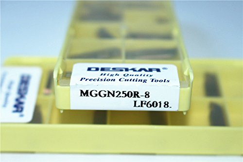 DESKAR 10P MGGN250R-8 LF6018 CNC Grooving Carbide Insert FOR-Steel parts