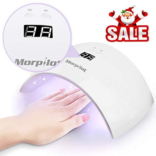 UV Lampada Unghie, Morpilot Fornetto Unghie CCFL UV 24W Asciuga con 2 Timer e Display LCD, 24 perle...