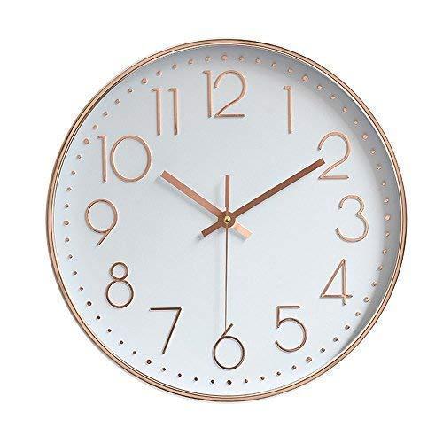 Jomparis 12 pollici grande decorativo orologio da parete silenzioso per cucina Living Room Camera da letto, 30 cm