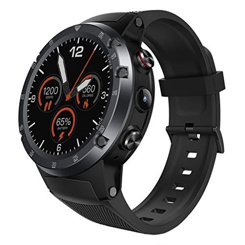 FANZIFAN Orologio Intelligente Smart Watch 2G + 16G Full Circle WiFi Frequenza cardiaca Paga GPS Telecamera Rispondi Chiama Cronografo Calendario Permanente, B