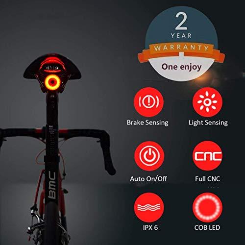 Luce Posteriore Smart Bike Ultra Bright, Luce accendisigari Ricaricabile per Moto, IPX6 Luci LED per...