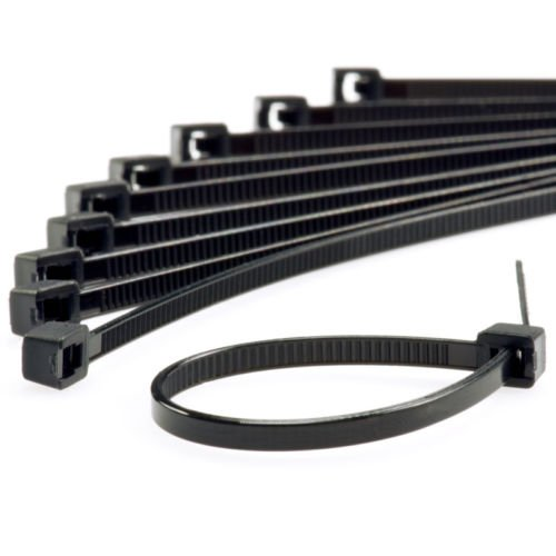 NWS Nylon 6-Inch Self Locking Cable Zip - Black (100 Pieces)