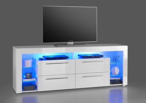 AVANTI TRENDSTORE - Gabriel - Mobile TV in bianco / bianco lucido, disponibile in varie misure...