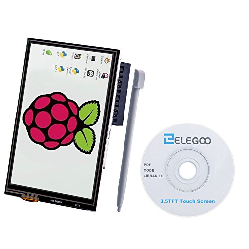 Elegoo 3.5 inch 480x320 TFT LCD Display Touch Screen Monitor per Raspberry Pi 3 2 Model B B+ A+ A SPI Interfaccia con Touch Pen SC06 con Tutorial in Inglese