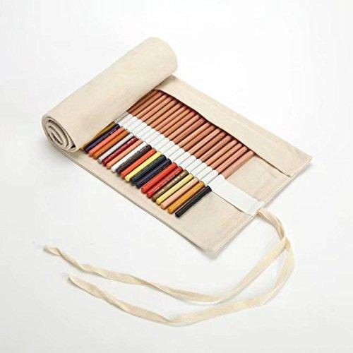 SDBPWD Astuccio creativo in tela arrotolabile, grande capacità, portapenne, matite colorate,...